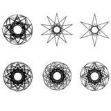 Pentagone étoilé réglé de modèle d'icône d'astrologie d'étoiles de modèle géométrique géométrique d'astrologie Photo libre de droits