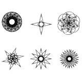 Pentagone étoilé réglé de modèle d'icône d'astrologie d'étoiles de modèle géométrique géométrique d'astrologie Photos stock