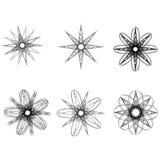 Pentagone étoilé réglé de modèle d'icône d'astrologie d'étoiles de modèle géométrique géométrique d'astrologie Photographie stock