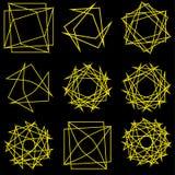 Pentagone étoilé réglé de modèle d'icône d'astrologie géométrique d'étoile Images stock