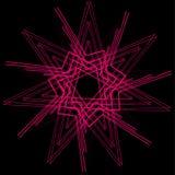 Pentagone étoilé réglé de modèle d'icône d'astrologie géométrique d'étoile Photographie stock libre de droits