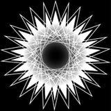 Pentagone étoilé réglé de modèle d'icône d'astrologie géométrique d'étoile Photo libre de droits