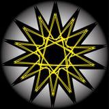 Pentagone étoilé réglé de modèle d'icône d'astrologie géométrique d'étoile Photos stock
