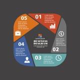 Pentagone infographic d'affaires dans la conception plate Disposition pour vos options ou étapes Modèle abstrait pour le fond illustration de vecteur