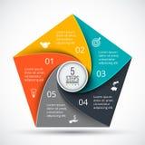 Pentagono di vettore infographic Immagine Stock