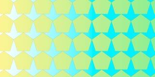Pentagoon en pijl geometrische kleurrijke achtergrond Stock Foto's