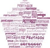Pentagoon van pentagonen Royalty-vrije Stock Afbeelding