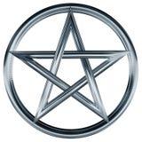 pentagram ασήμι ελεύθερη απεικόνιση δικαιώματος