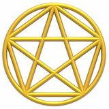 Pentagram Royalty Free Stock Photo