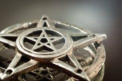 Pentagram avec la réflexion Photo libre de droits