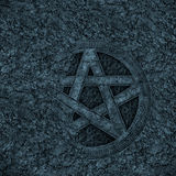 Pentagram background. A partially hidden pentagram background Stock Image