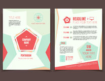 Pentagram business flyer. Abstract pentagram corporate design template for broshure cover and flyer Royalty Free Stock Images