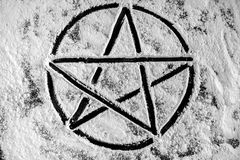 Pentagram closeup photo Stock Images