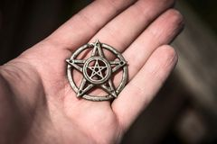 Pentagram closeup photo Royalty Free Stock Images