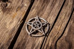 Pentagram closeup photo Royalty Free Stock Photo