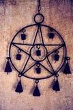 Pentagram con las campanas Foto de archivo libre de regalías