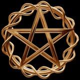 Pentagram de oro Fotos de archivo libres de regalías