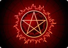 Pentagram del fuoco Immagine Stock