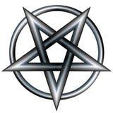 Pentagram dell'acciaio inossidabile Fotografie Stock Libere da Diritti