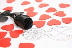 Pentagram e amor Imagens de Stock Royalty Free