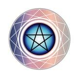 Pentagram een godsdienstig symbool in zachte pastelkleuren stock illustratie