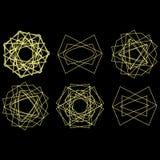 Pentagram för uppsättning för astrologi för stjärna för symbolmodellsymbol royaltyfri illustrationer