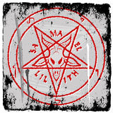 Pentagram. On grunge background - vector illustration Royalty Free Stock Image