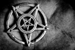 Pentagram in hand royalty free stock photos