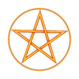 Pentagram. Illustration of a protection symbol the pentagram Royalty Free Stock Photo