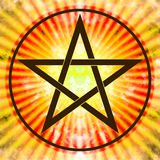 Pentagram. Illustration of a pentagram symbol Royalty Free Stock Photography