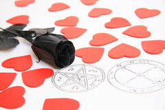 Pentagram and love Royalty Free Stock Images