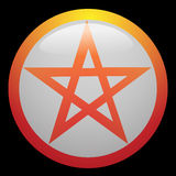 Pentagram. A magic symbol - vector illustration of Pentagram Royalty Free Stock Image