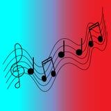 Pentagram musical ilustración del vector