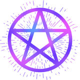 Pentagram occult symbol Stock Images