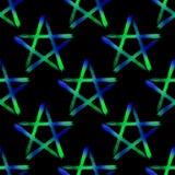 Pentagram occult symbol seamless pattern Stock Photos