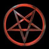 Pentagram occulto invertito sinistro Fotografie Stock