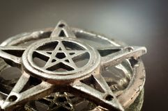 Pentagram with reflection Royalty Free Stock Photo