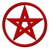 Pentagram rojo Fotografía de archivo libre de regalías