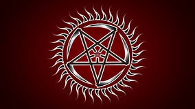 The Pentagram of the scythes. Royalty Free Stock Photography
