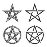Pentagram Symbol Collection Royalty Free Stock Photo
