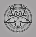Pentagram symbol goat Stock Photography