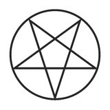 Pentagram symbol  icon Stock Image