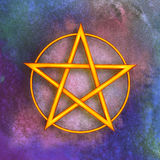 Pentagram Symbol. Illustration of a pentagram symbol Royalty Free Stock Image
