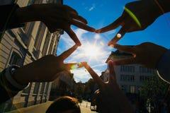 Pentagramma del dito fotografie stock libere da diritti
