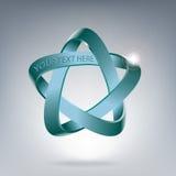 Pentagramma en ster in ruimte symbool van de Geest, Lucht, Water, Aarde, Brand Vector illustratie Stock Foto's