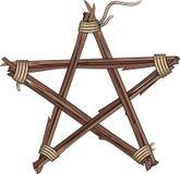 Pentagramma fatto dei ramoscelli Immagini Stock Libere da Diritti