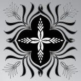 Pentagramma su un fondo grigio Immagini Stock Libere da Diritti