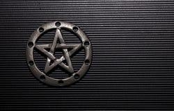 Pentagramme d'étain Photo libre de droits
