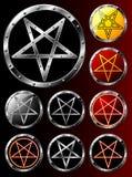 pentagrams θέστε Στοκ εικόνα με δικαίωμα ελεύθερης χρήσης