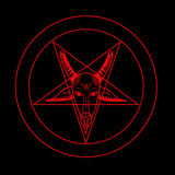 Pentagramsymbol Royaltyfri Fotografi